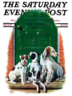 """""""Faithful Friends,"""" Saturday Evening Post Cover, September 14, 1929 by Alan Foster"""