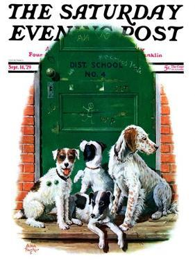 """Faithful Friends,"" Saturday Evening Post Cover, September 14, 1929 by Alan Foster"