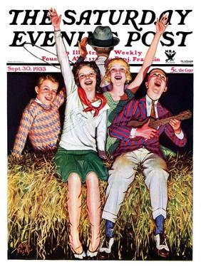 """""""Hayride,"""" Saturday Evening Post Cover, September 30, 1933 by Alan Foster"""