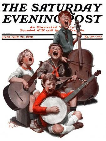 """String Quartet,"" Saturday Evening Post Cover, January 20, 1923"