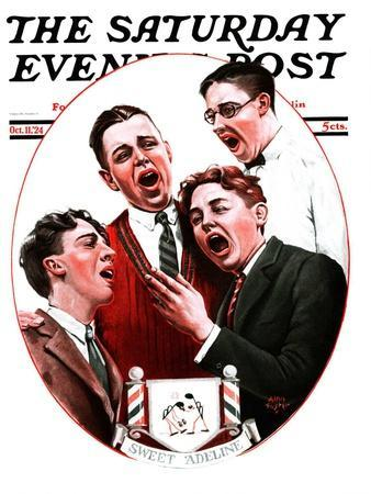 """""""Sweet Adeline,"""" Saturday Evening Post Cover, October 11, 1924"""