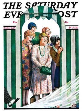 """""""There Goes the Bride,"""" Saturday Evening Post Cover, October 12, 1929 by Alan Foster"""