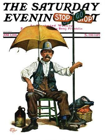"""Traffic Cop,"" Saturday Evening Post Cover, June 5, 1926"