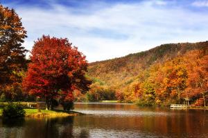 Mountain Lake Autumn by Alan Hausenflock