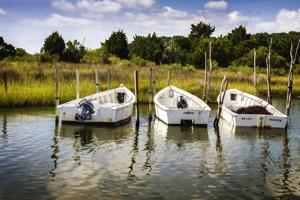 Three Small Boats I by Alan Hausenflock