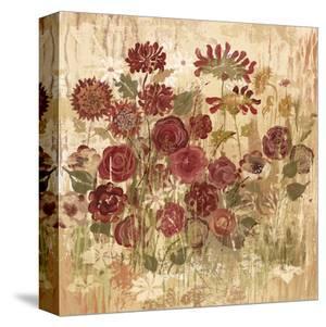 Floral Frenzy Burgundy II by Alan Hopfensperger