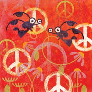 Peace Sign Ladybugs I by Alan Hopfensperger