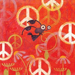 Peace Sign Ladybugs II by Alan Hopfensperger