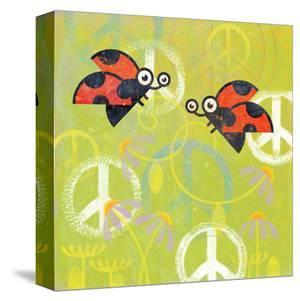 Peace Sign Ladybugs III by Alan Hopfensperger