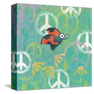 Peace Sign Ladybugs IV by Alan Hopfensperger