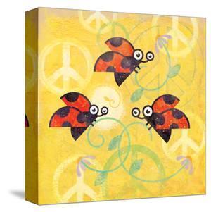 Peace Sign Ladybugs V by Alan Hopfensperger