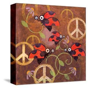 Peace Sign Ladybugs VI by Alan Hopfensperger