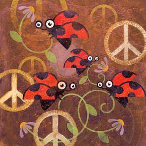 Peace Sign Ladybugs VI by Alan Hopfensperger
