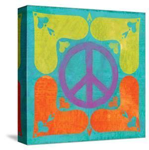Peace Sign Quilt I by Alan Hopfensperger