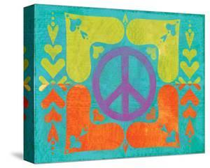 Peace Sign Quilt II by Alan Hopfensperger