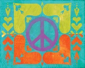 Peace Sign Quilt II by Alan Hopfensperger