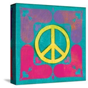 Peace Sign Quilt III by Alan Hopfensperger