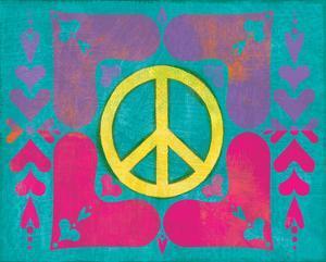 Peace Sign Quilt IV by Alan Hopfensperger
