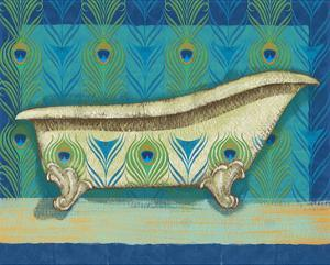 Peacock Bath III by Alan Hopfensperger