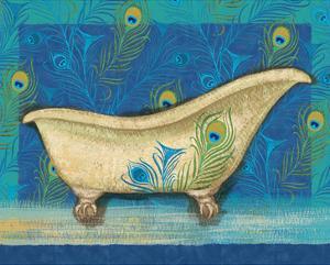 Peacock Bath IV by Alan Hopfensperger