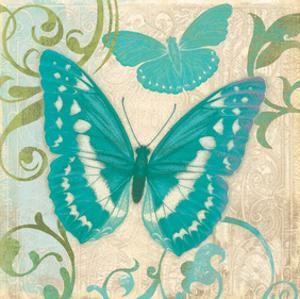 Teal Butterfly I by Alan Hopfensperger