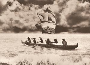 Captain Cook's Return Hawaiian Outrigger Canoe (Wa?a) by Alan Houghton