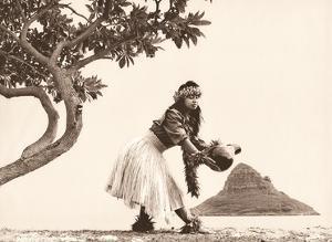 Chinaman's Hat - Hawaiian Hula Dancer by Alan Houghton