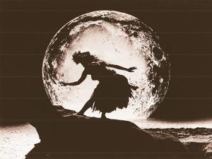 Full Moon Hula Dancer by Alan Houghton