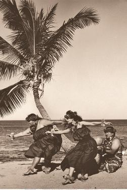 Hawaiian Hula Beach Dancers by Alan Houghton
