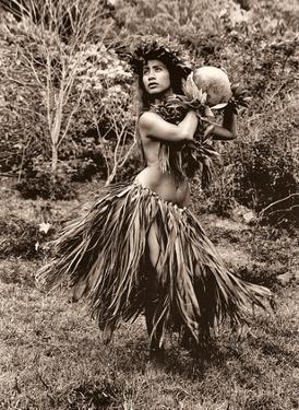 Hawaiian Hula Dancer Ipu (Gourd Drum) IV by Alan Houghton
