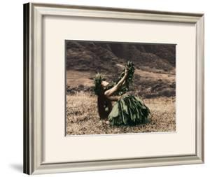 Offering to Pele, Hula Girl by Alan Houghton