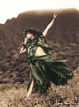 Primitive Hula, Hawaiian Hula Dancer by Alan Houghton