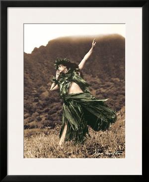 Primitive Hula, Hawaiian Hula Dancer by Alan Houghton