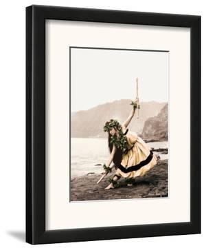 Pua with Sticks, Hawaiian Hula Dancer by Alan Houghton