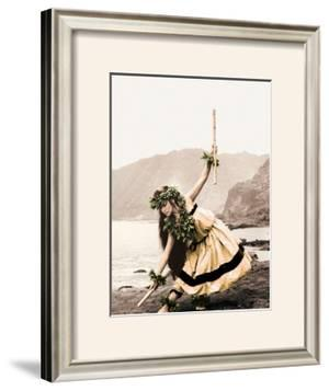Pua with Sticks, Hula Dancer by Alan Houghton