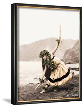 Pua with Sticks, Hula Dancer by Alan Houghton