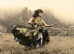 Swaying Skirt, Hawaiian Hula Dancer by Alan Houghton