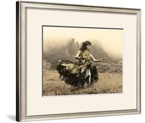 Swaying Skirt, Hula Girl by Alan Houghton