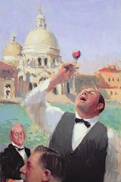 Wine Tasting on the Grand Canal, 2004-05 by Alan Kingsbury