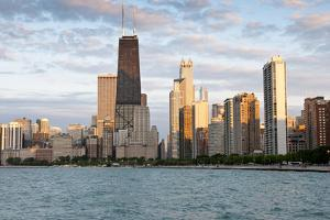 Chicago Skyline from North Avenue Beach at Dusk by Alan Klehr