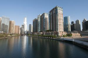 City Skyline and Chicago River, Chicago by Alan Klehr