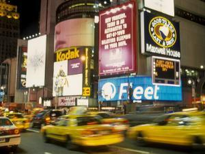 Colorful Lights and Traffic, Times Square, New York City, New York, USA by Alan Klehr