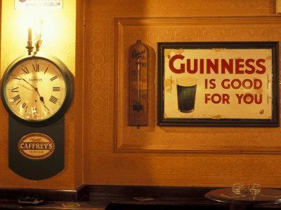 Guinness sign in pub, Dublin, Ireland