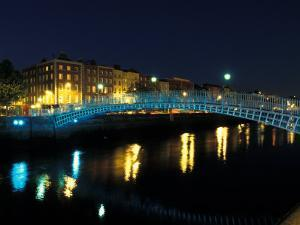 Ha' Penny Bridge over River Liffey, Dublin, Ireland by Alan Klehr