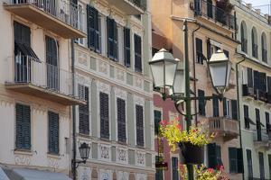 Italy, Liguria, Santa Margherita Ligure. Pastel buildings by Alan Klehr