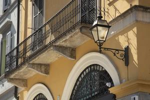 Italy, Lombardy, Cremona. Balcony with wrought iron work by Alan Klehr