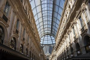 Italy, Lombardy, Milan. Galleria Vittorio Emanuele II, shopping mall completed in 1867. by Alan Klehr