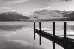 Lake McDonald Dock BW by Alan Majchrowicz