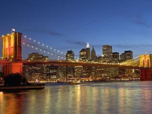 Brooklyn Bridge and East River by Alan Schein