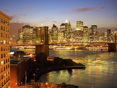 Brooklyn Bridge and Lower Manhattan From Brooklyn